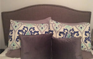 Gray Headboard (queen size) for sale