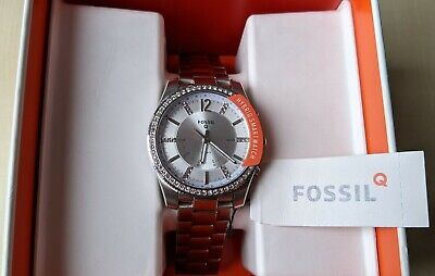 Fossil Q Hybrid Smartwatch Scarlette Stainless Steel Brand New With Box RRP£179