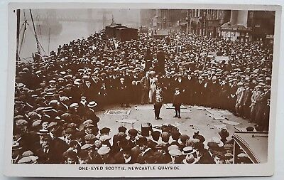 One-Eyed Scottie, Newcastle Quayside, RP, Postcard