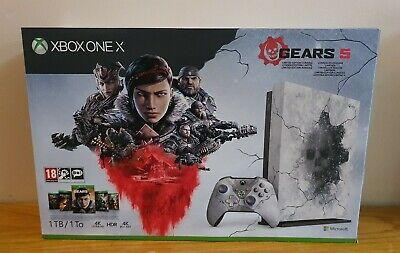 Microsoft Xbox One X 1TB Gears 5 Limited Edition Console Bundle With Receipt.New