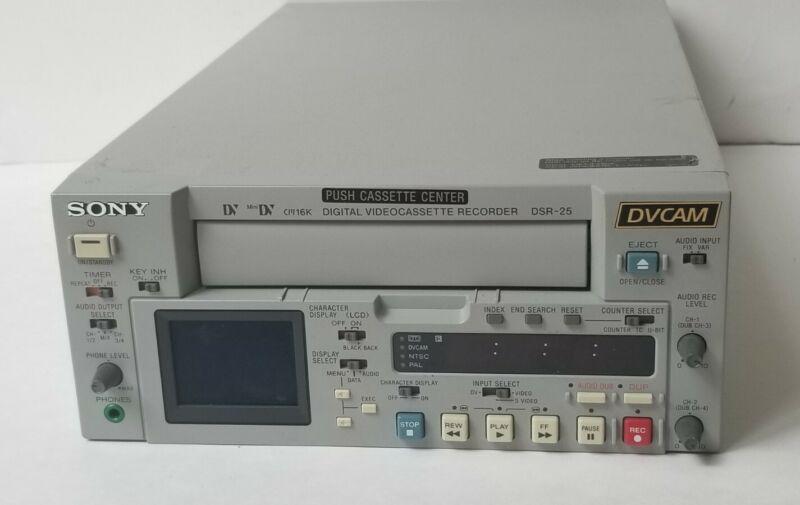 SONY DSR-25 MINI DV DVCAM VIDEO PLAYER RECORDER NTSC PAL 110-220VOLTS