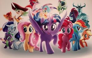 MY LITTLE PONY THE MOVIE A4 POSTER PICTURE PRINT A4 WALL ART CHILDREN GIRLS HORI