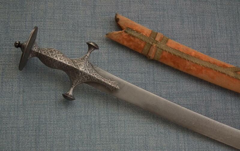 Antique Shamshir Sword Islamic Indo Persian Indian Talwar Zig Zag Wootz Damascus