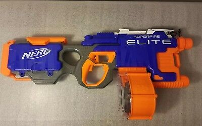 Nerf Gun N-Strike Elite Hyperfire Blaster with 25 Round Drum - Works Great-