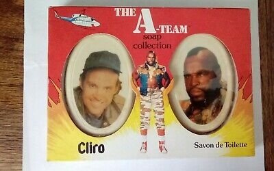 1983 VINTAGE CLIRO SOAP COLLECTION THE A-TEAM MR. T/MURDOCK BOXED RARE TO FIND