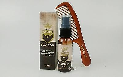 Schnurrbart Schneiden (Bartöl & Kamm Haarschneide Set - Taschen Schnurrbart & Haarkamm