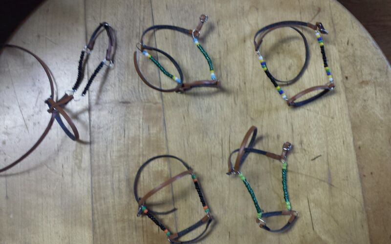 Johnny West Marc  horse bead bridle halter lot beads
