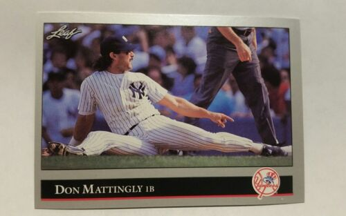 1992 leaf don mattingly new york yankees baseball card 57