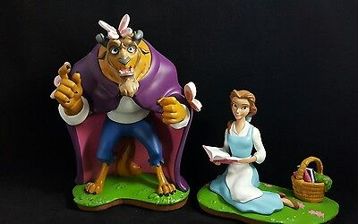 Beauty and the Beast Two-piece figurine set Butterflies Disney Parks