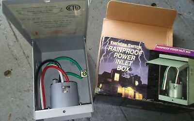 Emergen Switch Rainproof Inlet Box 20 Amp Capacity
