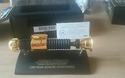 STAR WARS MASTER REPLICAS - OBI-WAN KENOBI LIGHTSABER GOLD 0.45 SABRE LASER, used for sale  Shipping to Canada