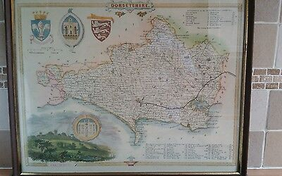 Wrightsons foilgraphic map of dorsetshire great for pubs of the local area