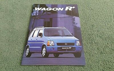 September 1999 2000 SUZUKI WAGON R + UK BROCHURE 1.0 GA 1.2 GL