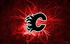 Flames vs Stars Centre Ice Row 4, 2 or 4 Tickets