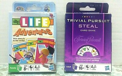Game Of Life Card Games - Hasbro Card Games Trivial Pursuit Steal & The Game Of Life Adventures Family Fun