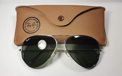 Rare Vintage B&L Ray Ban Bausch & Lomb Silver Chrome G15 Factory Defect 62mm