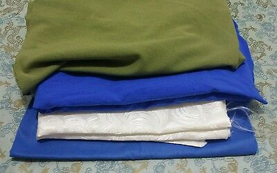 Cloth Lot Blue White Green Art Craft Quilting Teacher Designer Fashion Applique