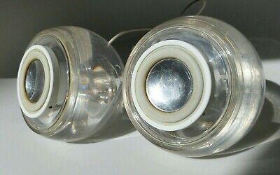 Apple G4 iMac Vintage Harmon Kardon Clear Round Pro Speakers 20W M6531