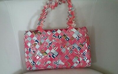 Pink Candy Wrapper Purse