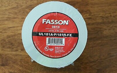 1 Fasson 2.5 X 60 Yds Duct Board Closer Tape 0810
