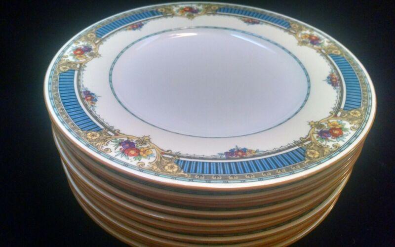 "12 Antique Minton China Pattern B1022 Enamel 10 1/4"" Dinner Plates"