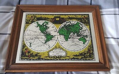 Vintage 1970s 'World Map