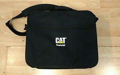 CAT Caterpillar Financial Shoulder bag case briefcase black carry messenger CYRK