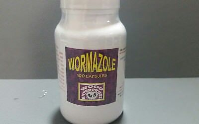 Wormazole Poultry Wormer Chickensrooster Best Wormer 100 Capsules