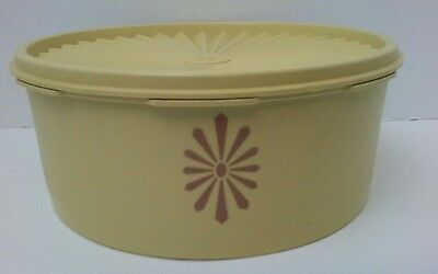 Tupperware Servalier Yellow Harvest  Stacking Cannister 1204 &Lid 1205