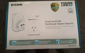 D-LINK DHP-P308AV Network Internet Power Line Adapter with cables