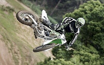 "MOTOCROSS DIRT BIKE JUMP SPORT PHOTO ART PRINT POSTER 38""x24"" 046"