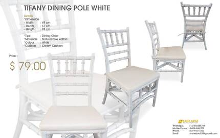 POLE DINING CHAIR_WHITE CLEARANCE