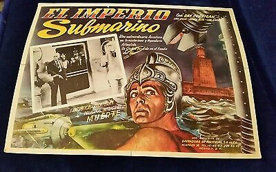 Vintage Lobby Card EL IMPERIO SUBMARINO Ray Corrigan Lon Chaney Lois Wilde 1936