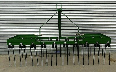 6 ft Spring Tine Harrow, Chain Harrow, Tractor Mounted
