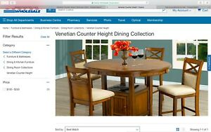 Venetian Dining  Set Counter Height