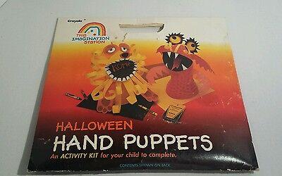 Vintage Crayola Halloween Hand Puppets Kit 1987