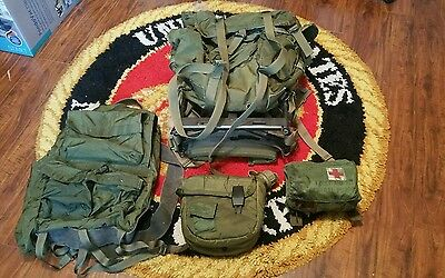 LARGE US ARMY ALICE FIELD PACK-COMPLETE W/ 2ND PACK, FIRST AID AND CANTEEN!!