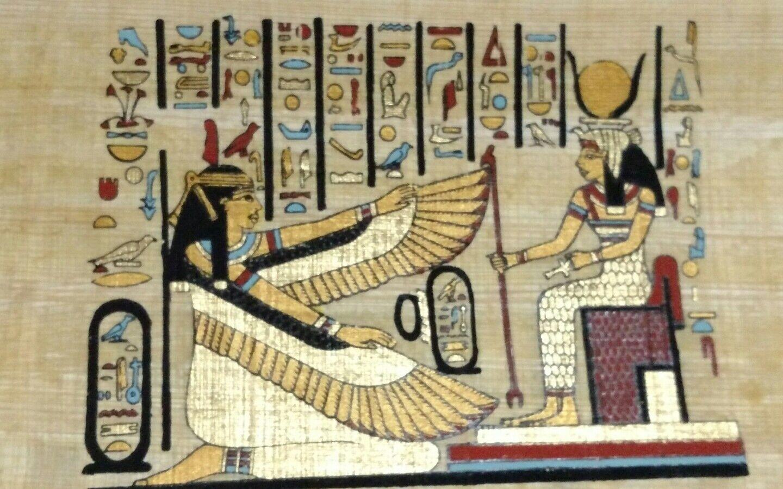 Original Papyrus, Isis Goddess of Marriage, Wisdom & Health, Handmade Painting