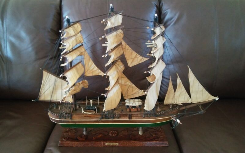 Vintage Antique 1853 Young America Clipper Ship Model Wooden Rare!  Excellent!