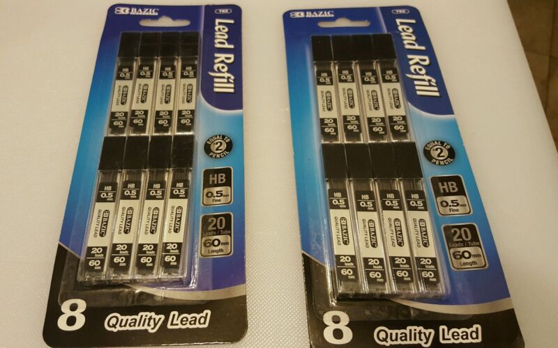 2 pack Mechanical Pencil Spare Leads HB 0.5 mm