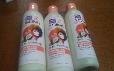 (3) Dark & Lovely Au Naturale Anti-Shrinkage Curl Clay Cleanser - 13.5 OZ
