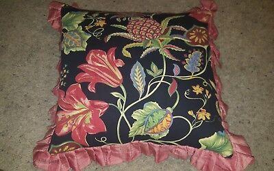 Подушка Pillow Black Floral Tropic Green