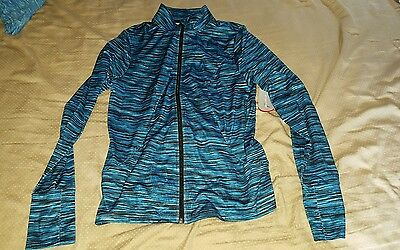 Exertek Younkers Brand Blue Zip Up Light Stretch Track Jacket Size Large Nwt