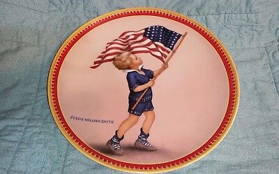 Limited Edition FOURTH OF JULY Edwin M Knowles Plate- Jessie Willcox Smith  - 4th Of July Plates
