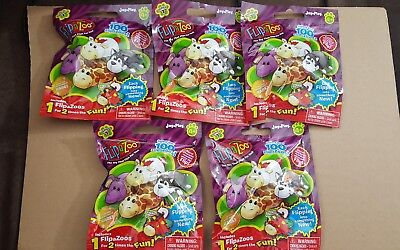 LOT OF 5 FLIPAZOO BLIND BAGS~SERIES 1~FOR AGES 4+~NEW IN PACKAGES (Blind Bags Toys)