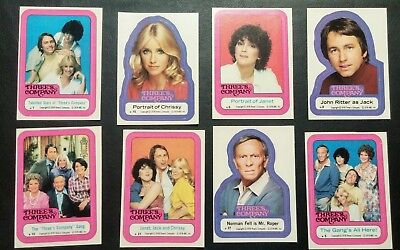 Threes Company Sticker Set  All 44 From 1978