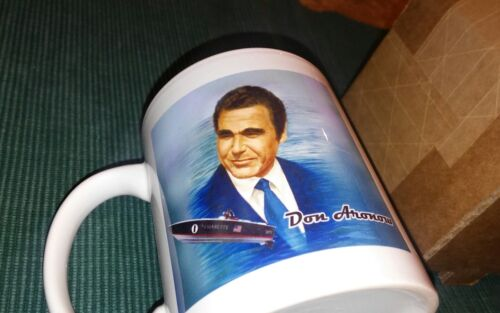 RARE Don Aronow Offshore Racing Cigarette Donzi Boat Builder Collectible Mugs