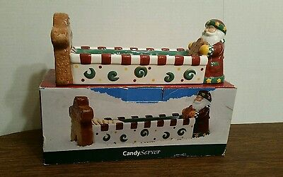St. Nicholas Square Candy Cookie Tray Platter Snowman & Gingerbread Man Nicholas Square Candy