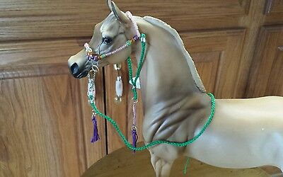 Breyer  Peter Stone horse custom Arabian halter lead