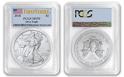 2018 $1 American Silver Eagle Dollar PCGS MS70 First Strike